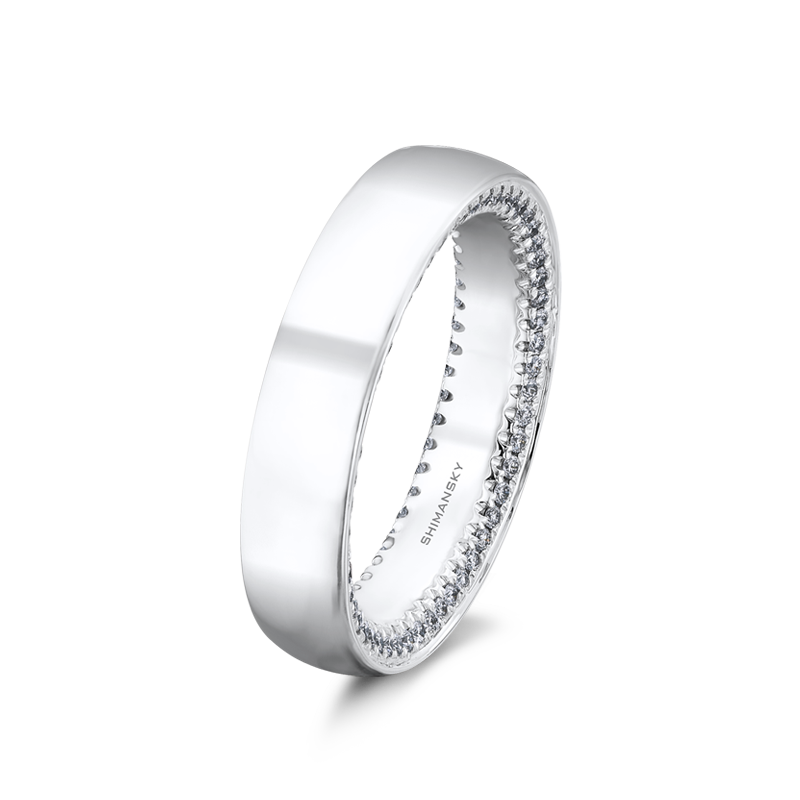 Shimansky Circle of Love Mens Wedding Ring