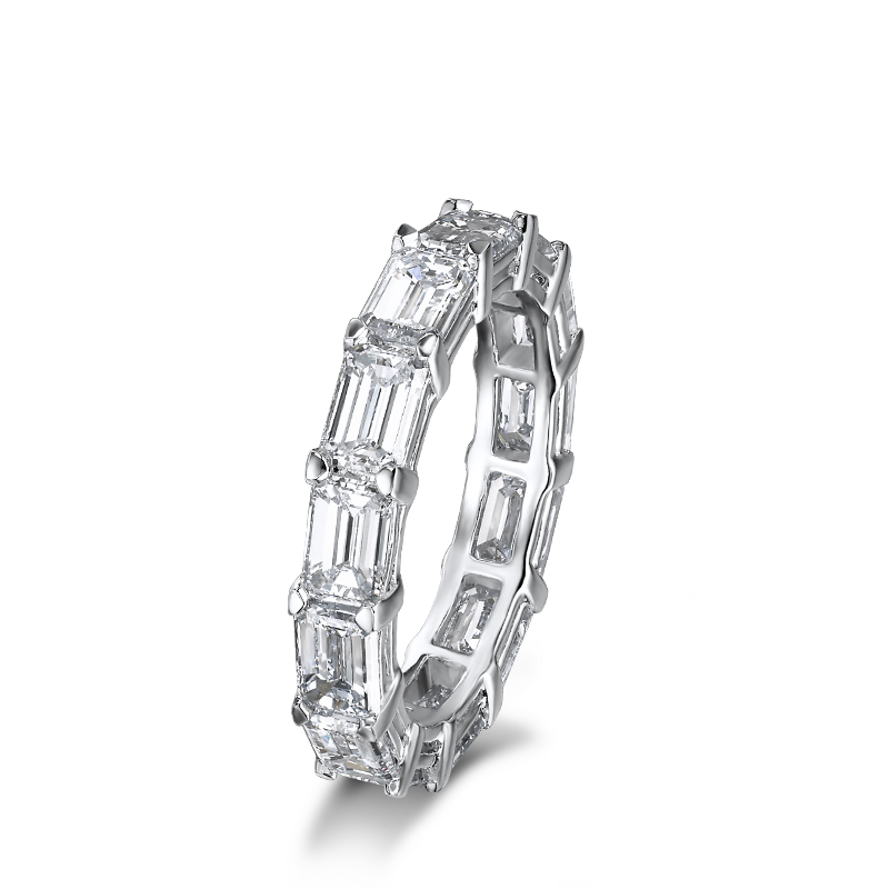 Shimansky Emerald Cut Diamond Full Eternity Ring