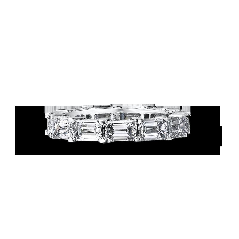 Shimansky Emerald Cut Diamond Full Eternity Ring