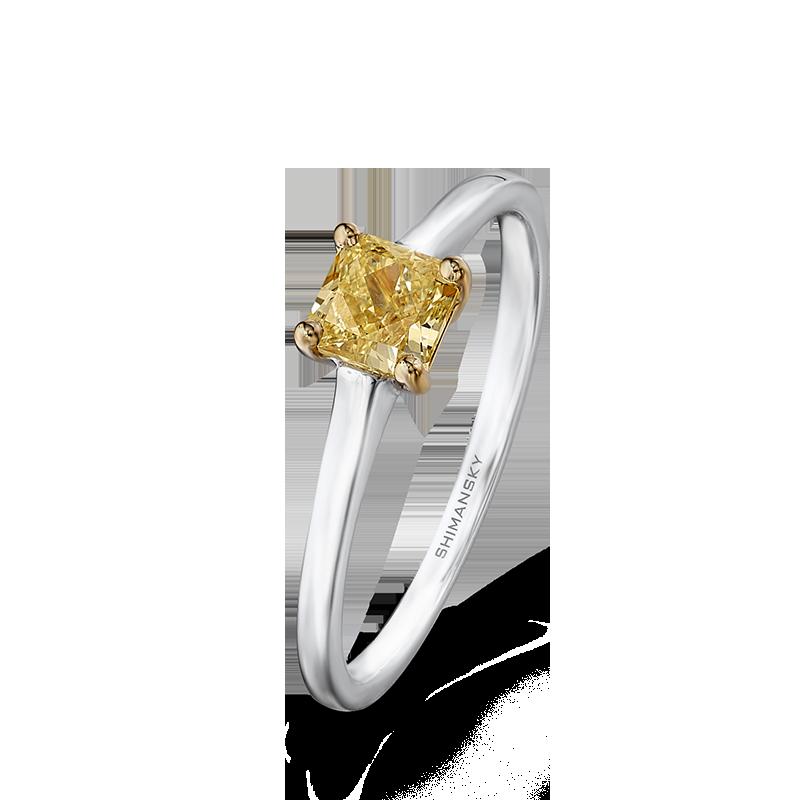 Shimansky Fancy Yellow Diamond Solitaire Ring