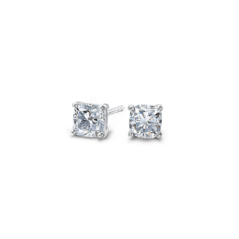 claw-set-cushion-cut-diamond-solitaire-stud-earrings