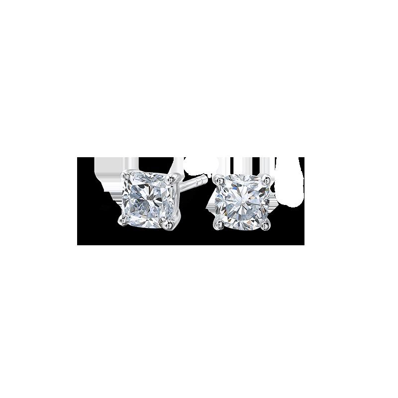 claw-set-cushion-cut-diamond-solitaire-stud-earrings