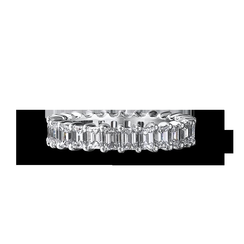 Shimansky Emerald Cut Full Eternity Diamond Ring