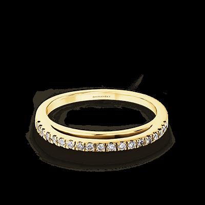 Evolym Microset Wedding Band 18K Yellow Gold | Shimansky