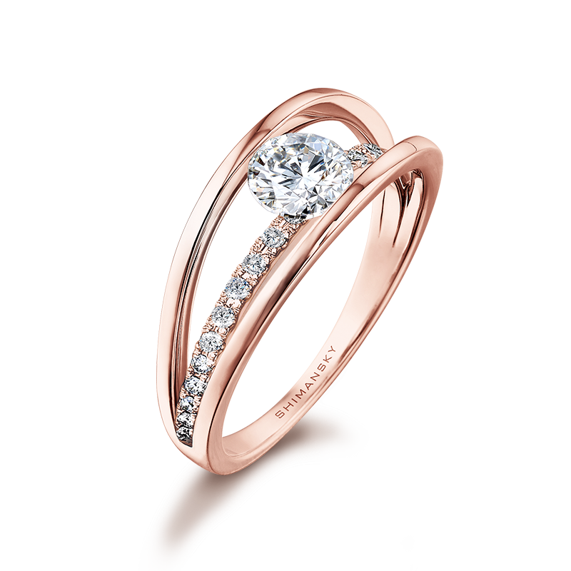 Rose Gold Evolym Micro Set Engagement Ring