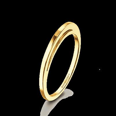 Evolym Wedding Band 18K Yellow Gold   Shimansky