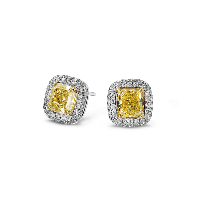 06-claw-set-cushion-cut-fancy-yellow-diamond-earrings