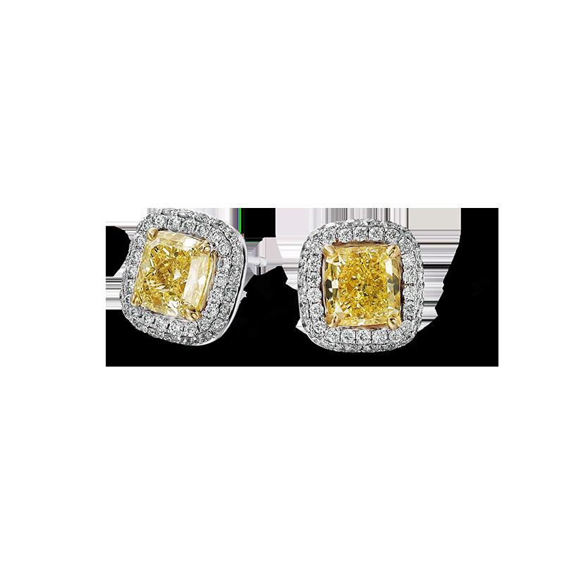 06-claw-set-cushion-cut-fancy-yellow-diamond-earrings