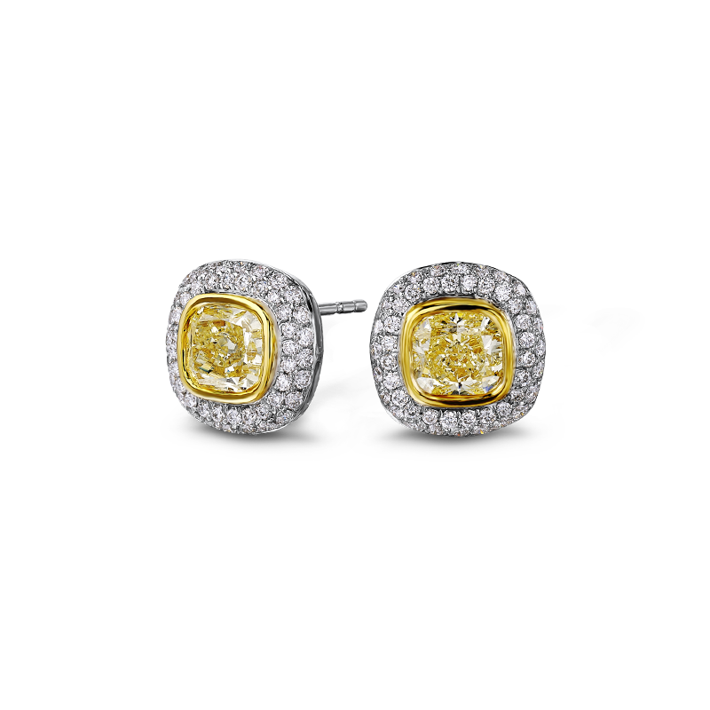 07-tube-set-cushion-cut-fancy-yellow-diamond-earrings