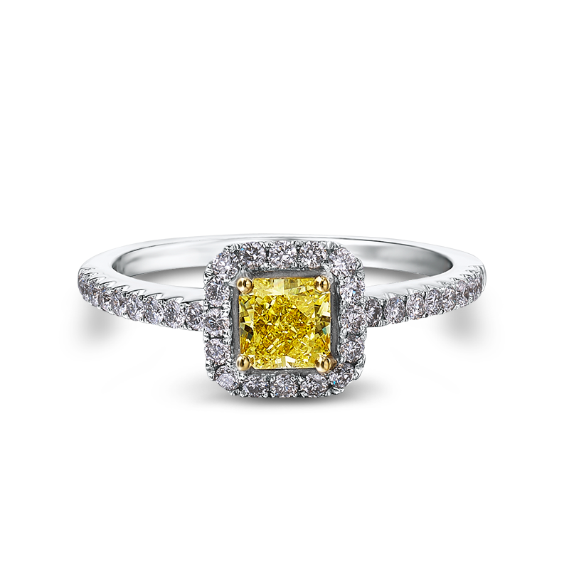 Shimansky My Girl Fancy Yellow Halo Ring