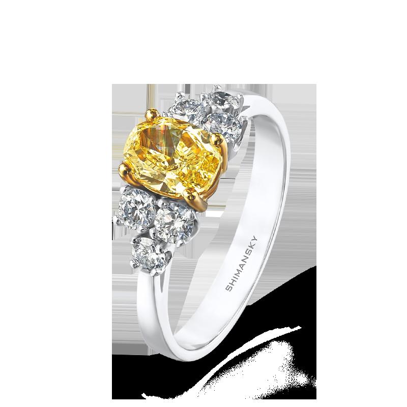 Shimansky Fancy Yellow and White Diamond Ring