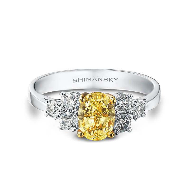 Shimansky Fancy Yellow and White Diamond Ring