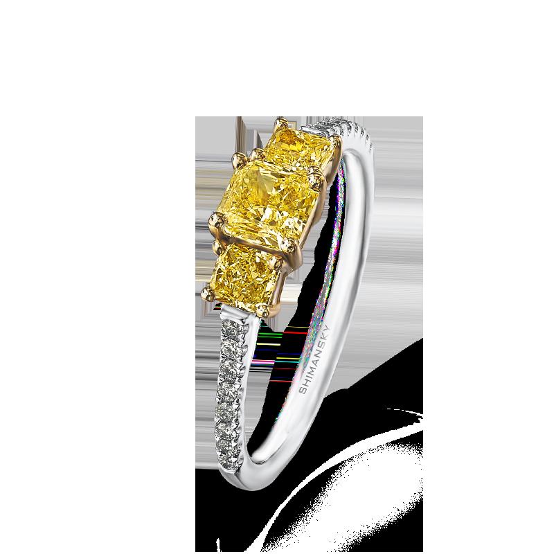 09-radiant-cut-yellow-diamond-trilogy-ring-with-claw-set-round-diamonds-01