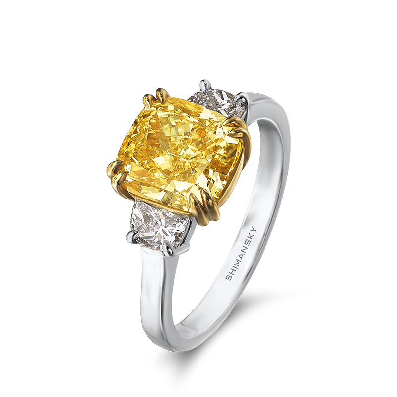 Shimansky Fancy Yellow Diamond Trilogy Ring