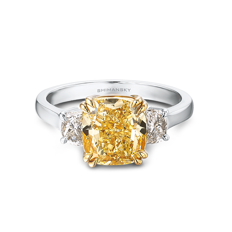 Shimansky Radiant Fancy Yellow Diamond Ring