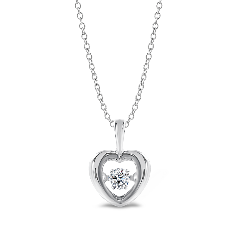 Dancing Diamond Heart Pendant | Shimansky