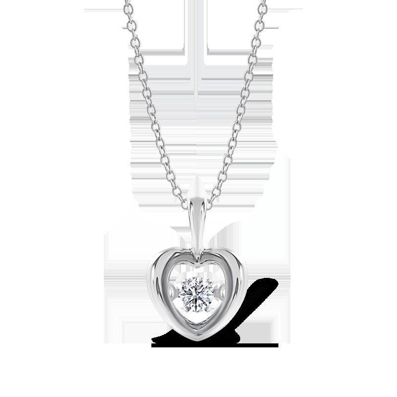 Dancing Diamond Heart Pendant | Shimansky