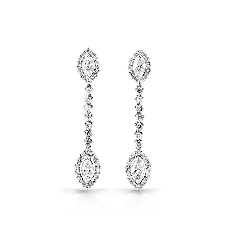 marquise-cut-diamond-drop-earrings