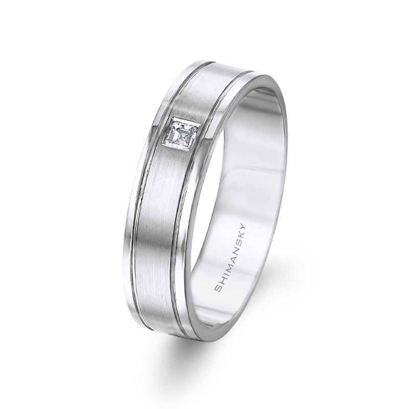 Max-Line Brushed and Shiny Finish Wedding Band