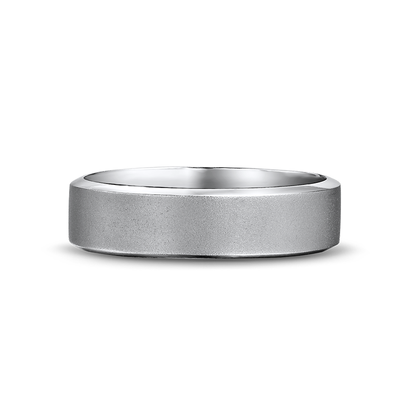 Max-Line Brushed Flat Mens Wedding Band