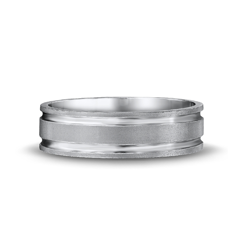 Max-line Brushed Flat with Polished Grooves Band