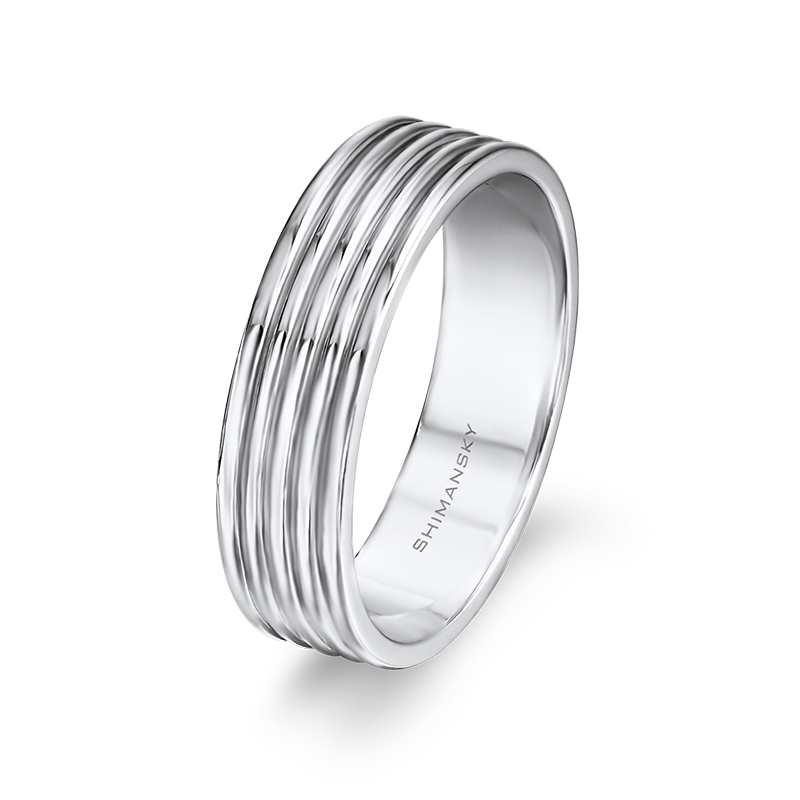 Max-Line Shiny Five Half-Round Mens Band