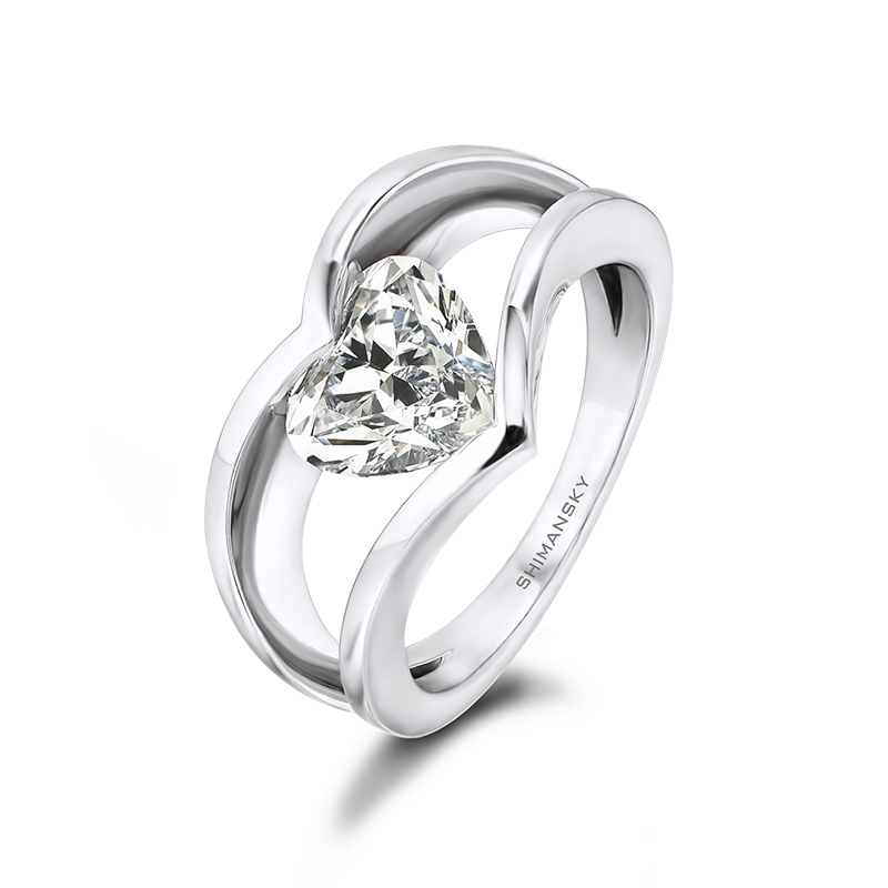 Heart Shaped Designer Millennium Shimansky Ring