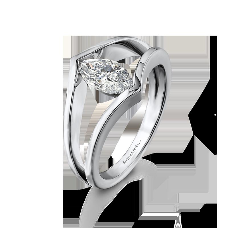 Marquise Millennium Designer Engagement Ring