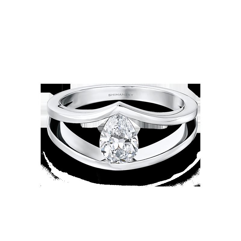 Pear Shaped Shimansky Millennium Ring