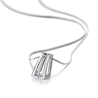 Millennium Round Brilliant Cut Diamond Pendant