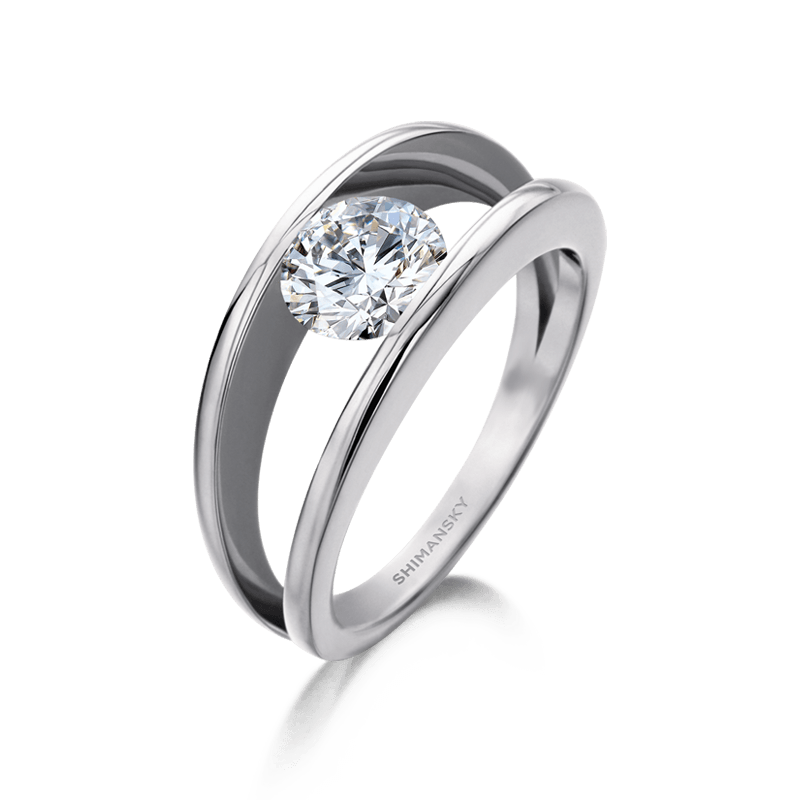 Millennium Diamond Ring 18K White Gold | Shimanksy