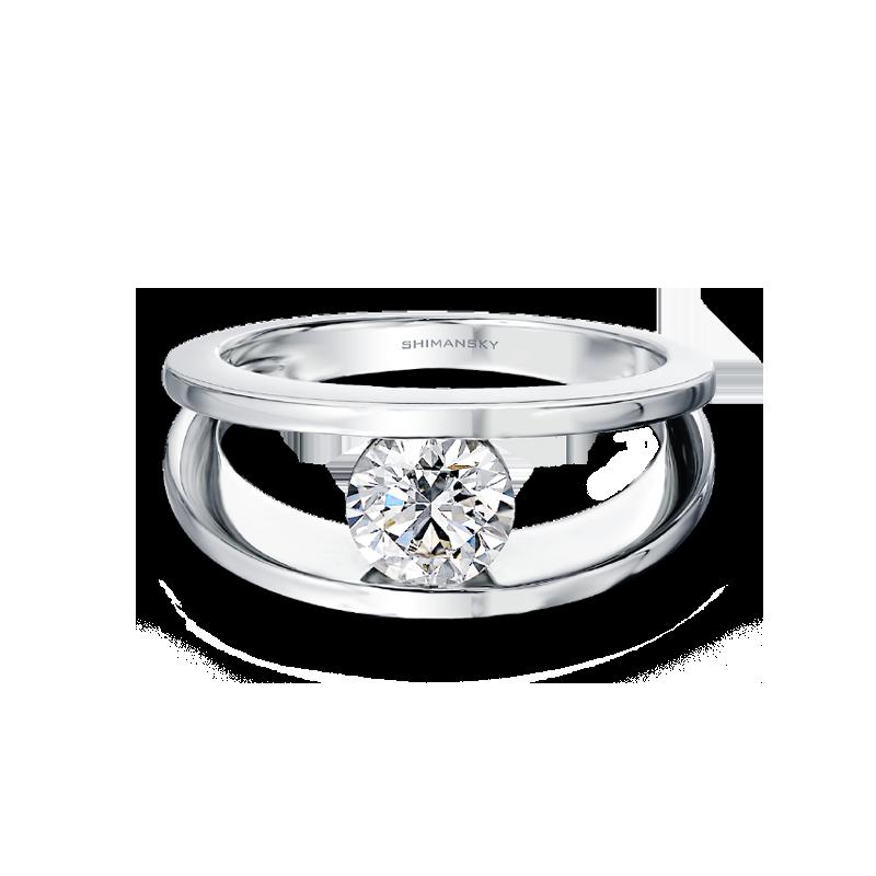 Millennium Diamond Ring Flat View