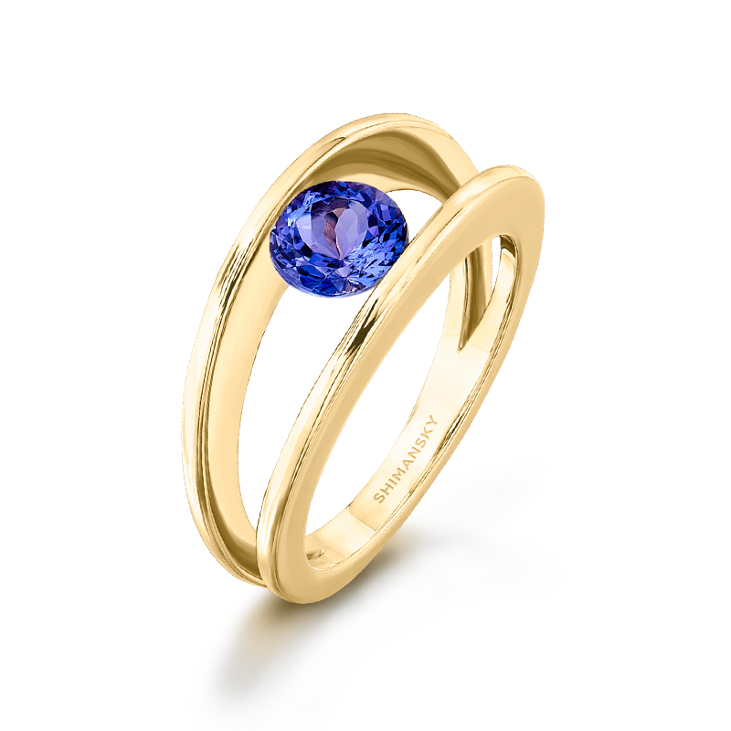 Millennium Tanzanite Yellow Gold Ring Shimansky