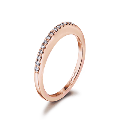 Millennium Diamond Wedding Band 18K Rose Gold | Shimansky