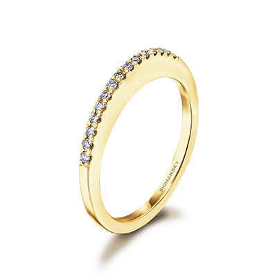 Millennium Diamond Wedding Band 18K Yellow Gold | Shimansky