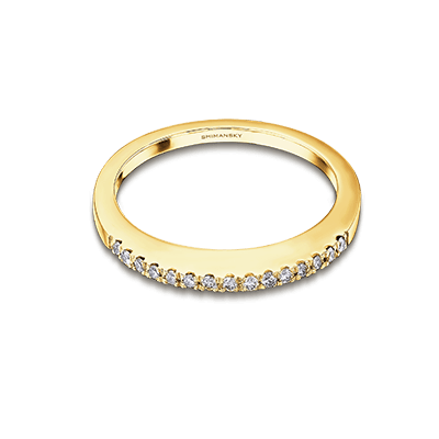 Millennium Microset Diamond Band 18k Yellow Gold | Shimansky