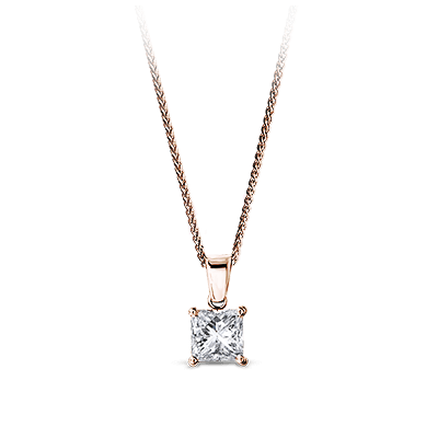 My Girl Diamond Solitaire Pendant 18K Rose Gold | Shimansky