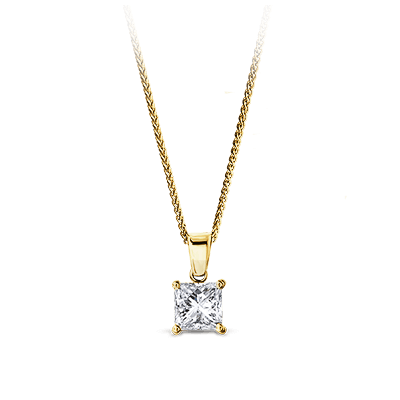My Girl Diamond Solitaire Pendant 18K Yellow Gold | Shimansky