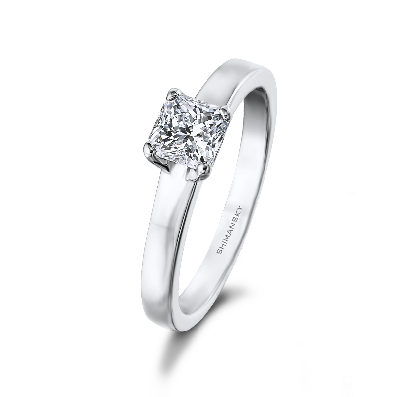 Shimansky My Girl Classic 4 Claw Solitaire Diamond Engagement Ring