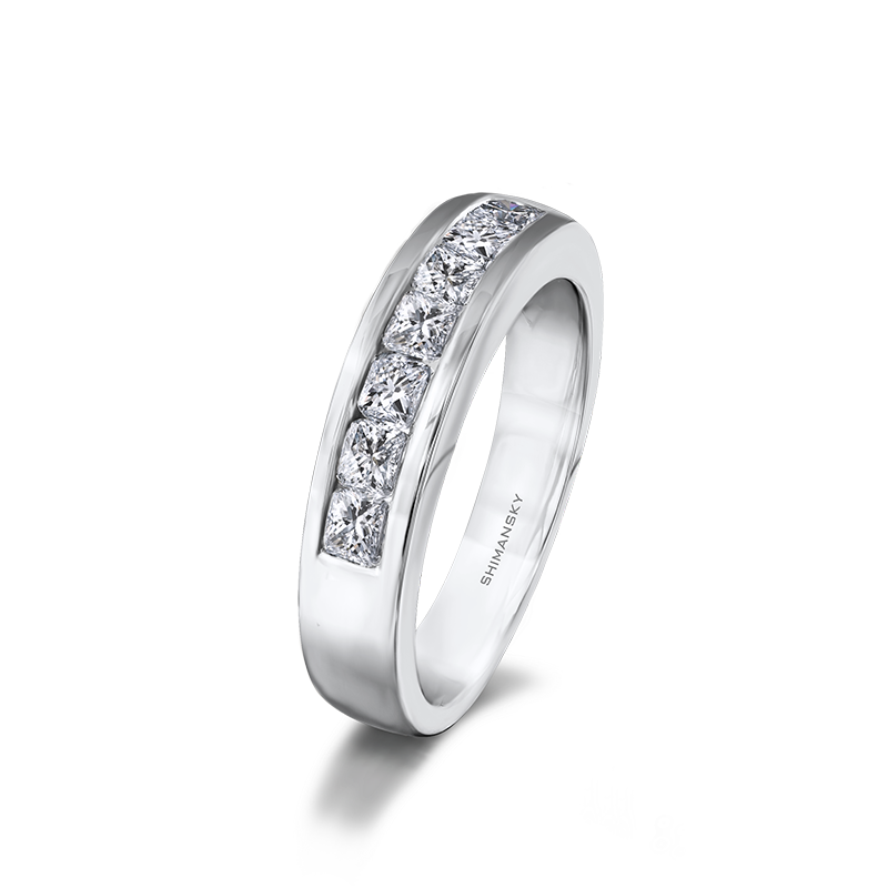 Shimansky My Girl 7 Stone Channel Set Half Eternity Ring