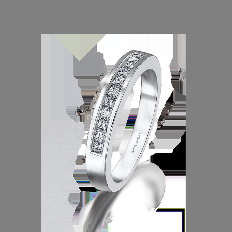 Shimansky My Girl Channel Set Diamond Half Eternity Ring