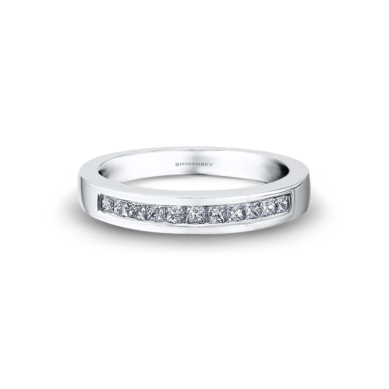 Shimansky My Girl Channel Set Diamond Half Eternity Ring