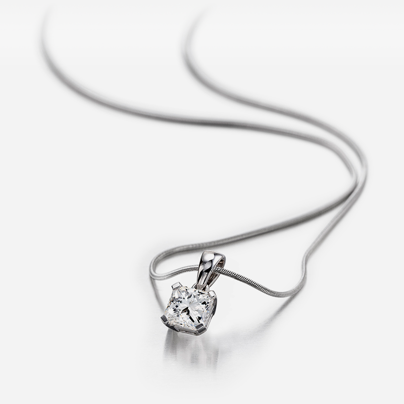 Shimansky My Girl Classic Solitaire Diamond Pendant