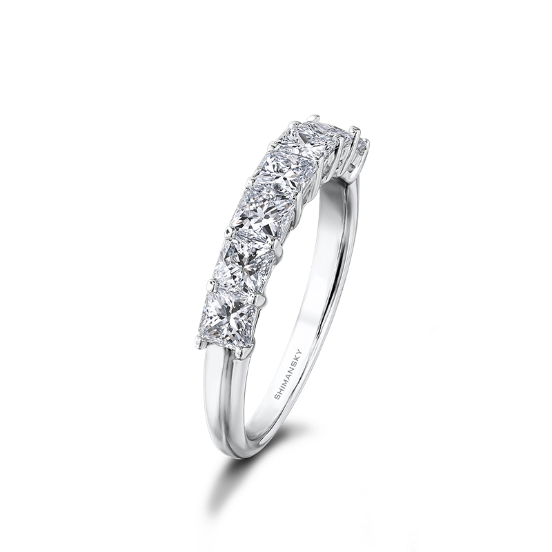 Shimansky My Girl Claw Set 7 Stone Half Eternity Anniversary Ring