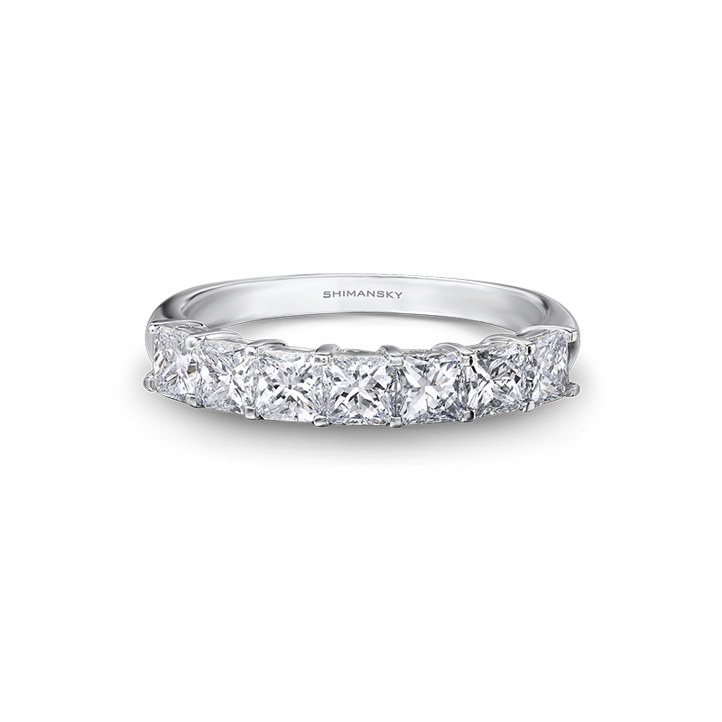 Shimansky My Girl Claw Set 7 Stone Half Eternity Anniversary Ring