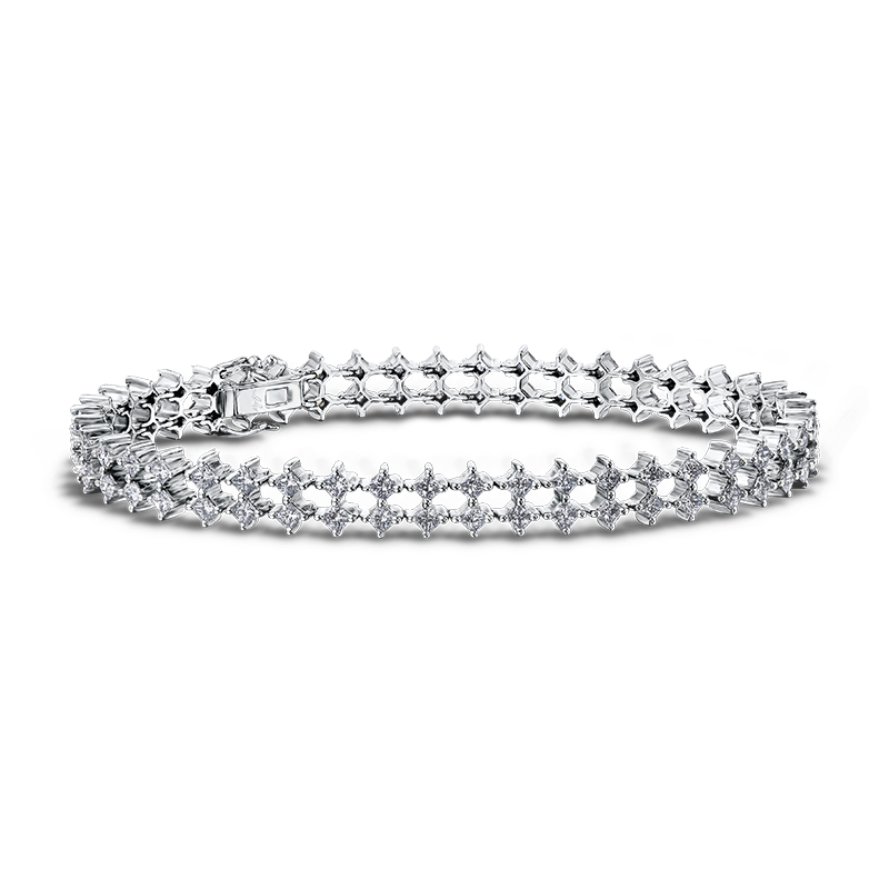 Shimansky My Girl Double Row Diamond Bracelet