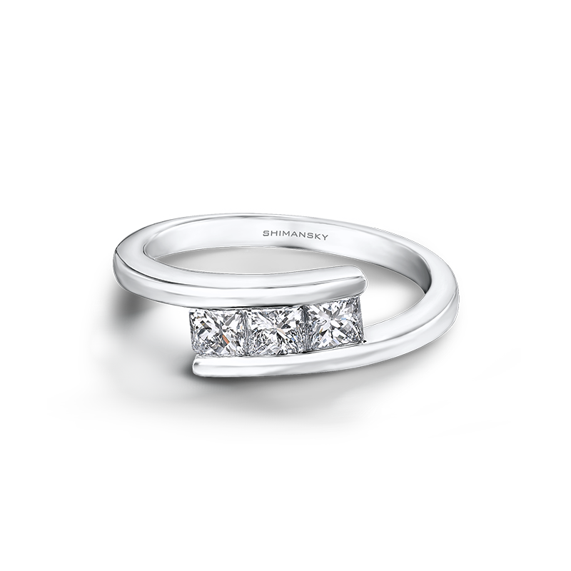 Shimansky My Girl 3 Stone Overlap Ring