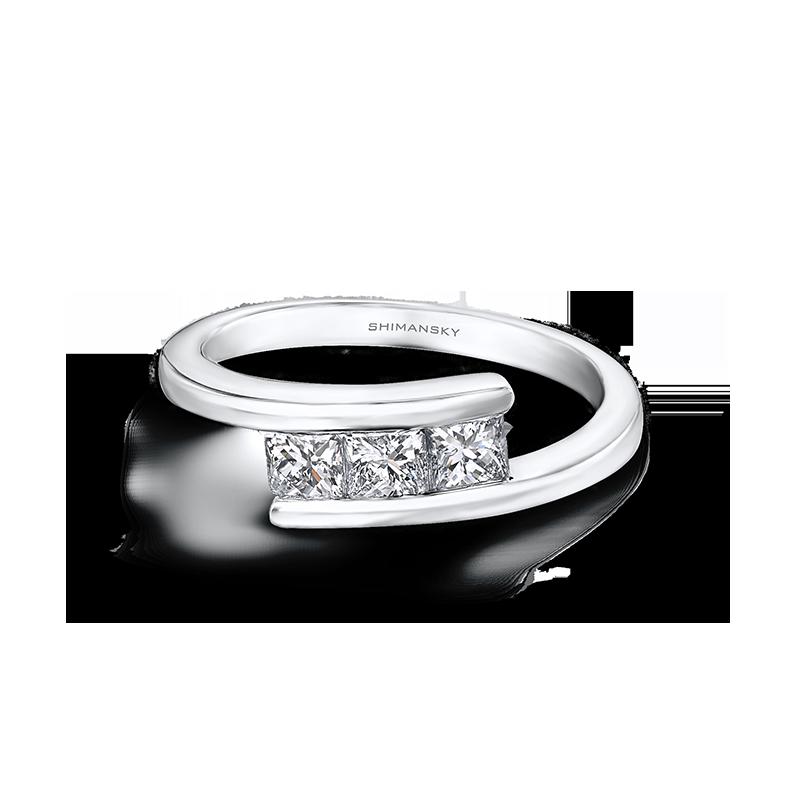 Shimansky My Girl 3 Stone Overlap Ring