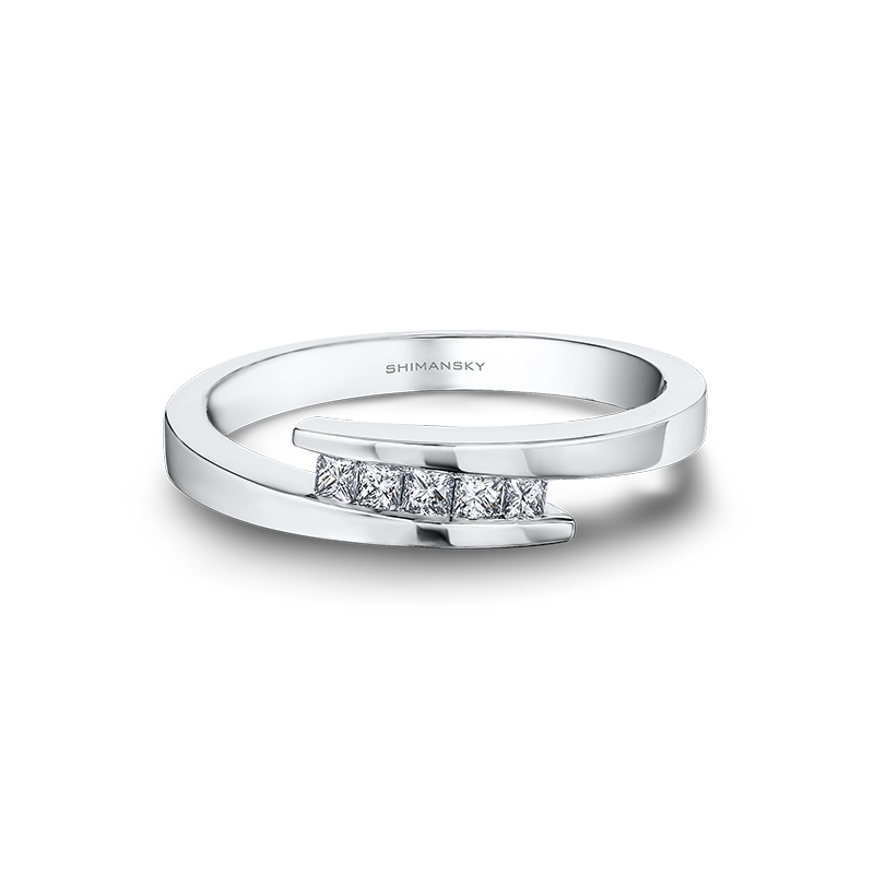 Shimansky My Girl 5 Stone Overlap Ring