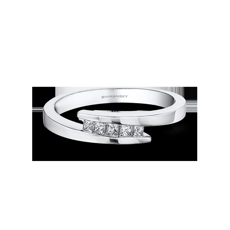 Shimansky My Girl 5 Stone Overlap Ring